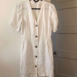 COPY - White linen Wilfred dress
